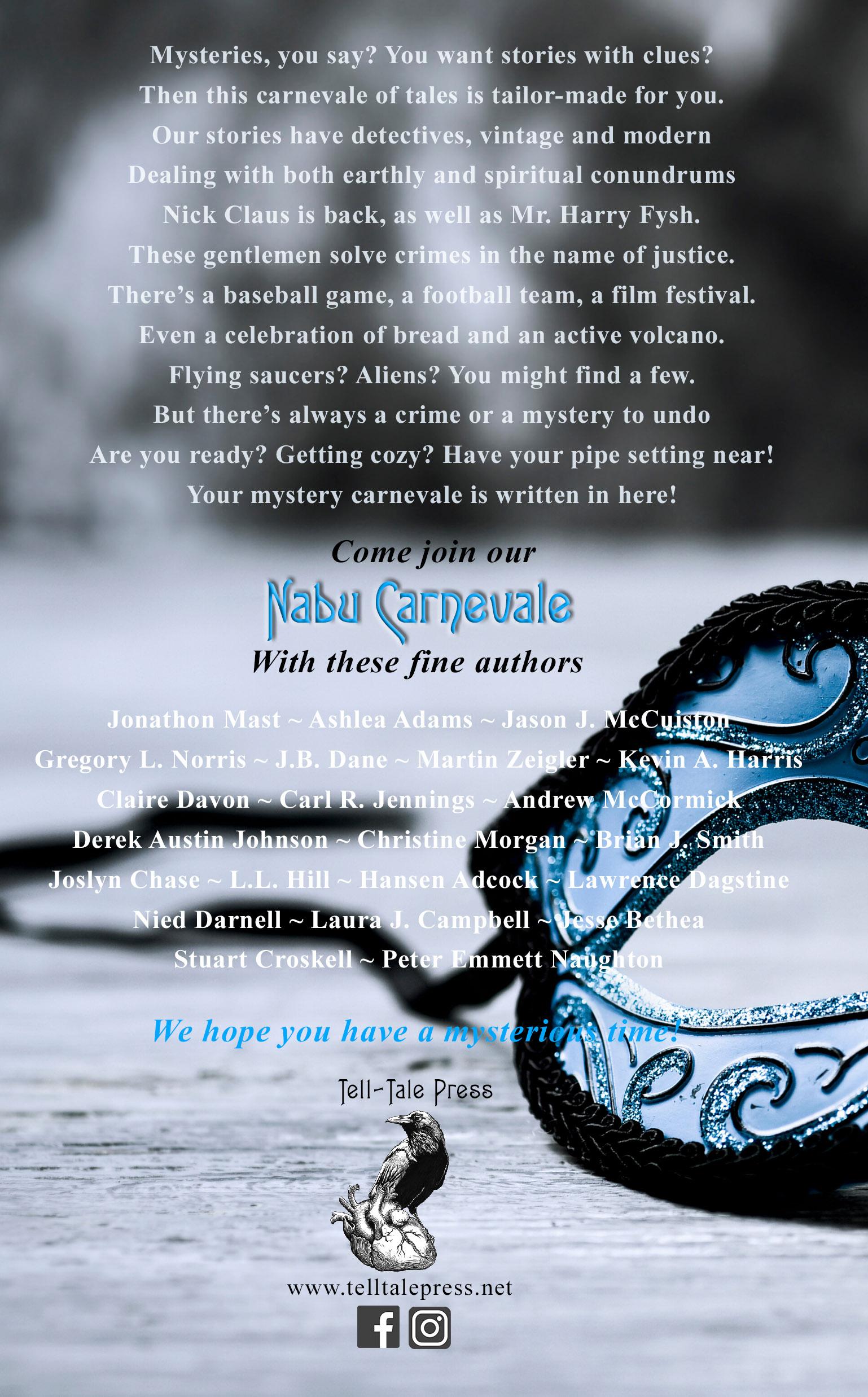 The Case Files Vol 3 Nabu Carnevale Back Cover